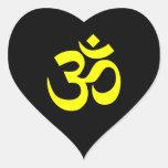 Black and Yellow Om Symbol