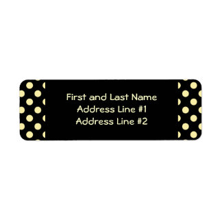 Black and Yellow Polka Dot Return Address Label