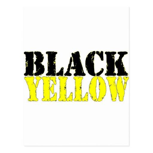 Black and Yellow Postcard