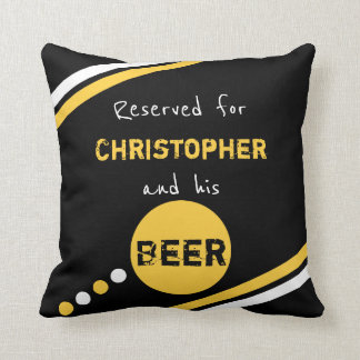 Black and yellow reserved for beer cushion