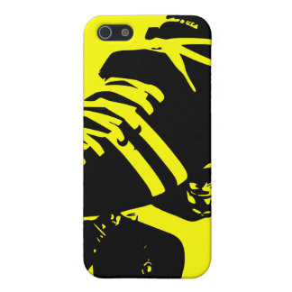 Black and Yellow Roller Derby Skate iPhone Case iPhone 5 Case