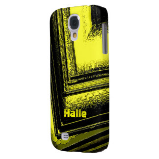 Black and Yellow Samsung Galaxy S4 case of Halle