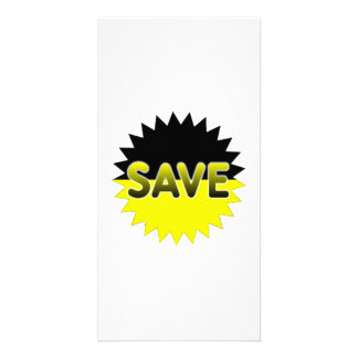 Black and Yellow Save Picture Card