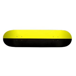 Black and Yellow Split Color Scheme 19.7 Cm Skateboard Deck