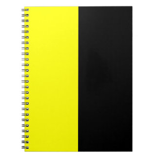 Black and Yellow Split Color Scheme Notebooks
