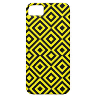 Black And Yellow Square 001 Pattern iPhone 5 Cases