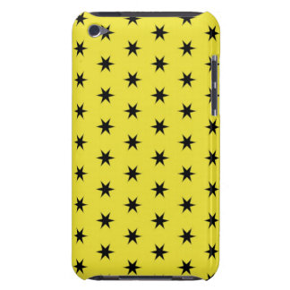 Black and Yellow Star Pattern iPod Touch Cases