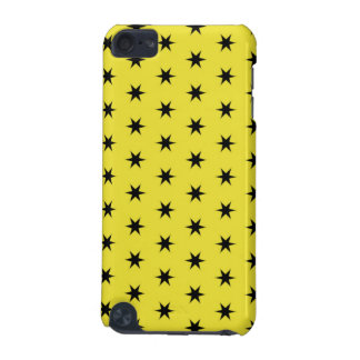 Black and Yellow Star Pattern iPod Touch (5th Generation) Case