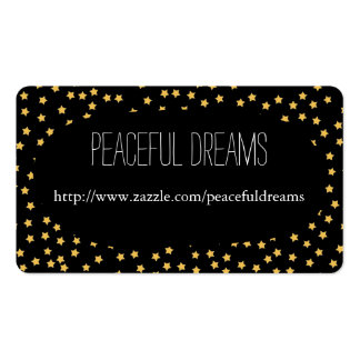 Black and Yellow Stars Pack Of Standard Business Cards