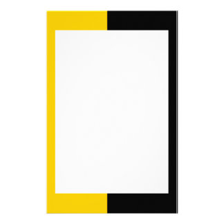 Black and Yellow Stationery