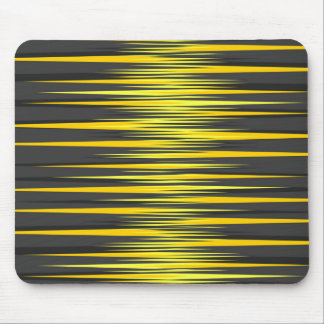 Black and Yellow Stripes Mouse Pad