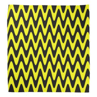 Black and Yellow Wavy Zigzag Bandanna