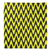 Black and Yellow Zigzag Bandanas