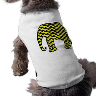 Black and Yellow Zigzag Elephant Sleeveless Dog Shirt