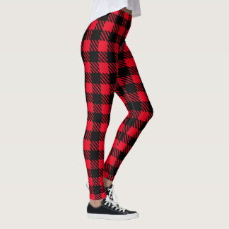 Black and Your Color Buffalo Plaid Leggings