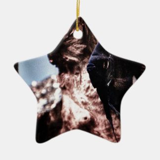 Black Angel Ceramic Star Decoration
