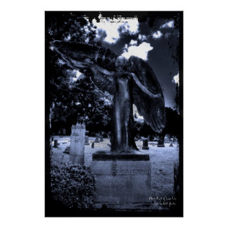 Black Angel of Iowa City  Print