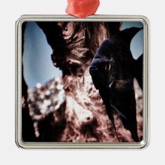 Black Angelfish Christmas Tree Ornament