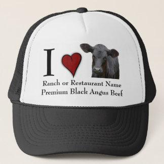 Black Angus Beef  - I love design Trucker Hat