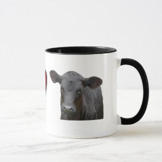 Black Angus Beef  - I love heart design Mug
