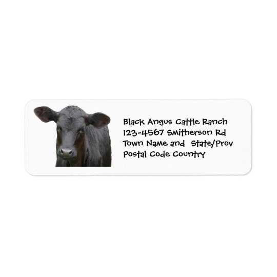 Black Angus Cattle Farm or Ranch Sticker