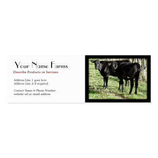 Black Angus Cattle Ranch Business Cards