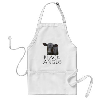 Black Angus Cow Standard Apron