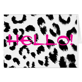 Black Animal Print NoteCard Note Card