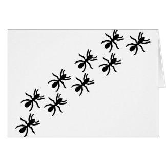 black ants trail greeting card