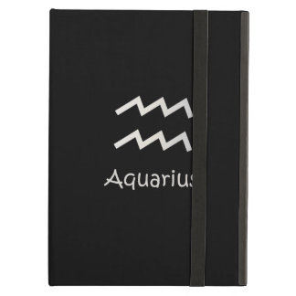 Black Aquarius Zodiac January 20 - February 18 iPad Air Cover