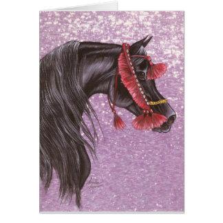 Black Arabian Costume Card