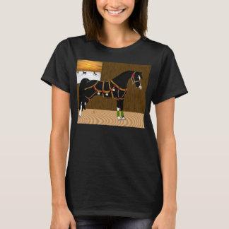 Black Arabian Horse Christmas T-Shirt