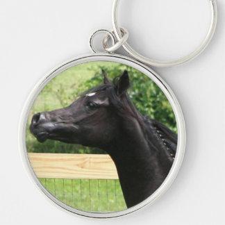Black Arabian horse Key chain