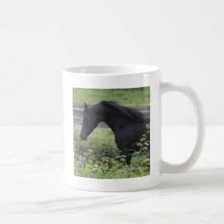 Black Arabian Stallion Basic White Mug