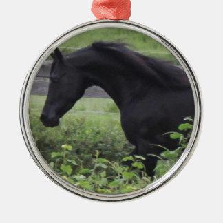 Black Arabian Stallion Christmas Ornament