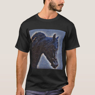 Black Arabian Stallion in the Stars Tee Shirt