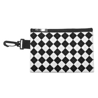 Black Argyle Accessory Bag