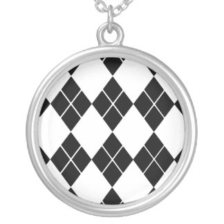 Black Argyle Pendant