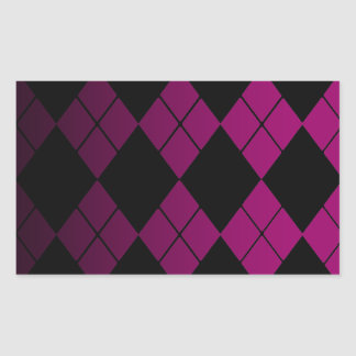 Black Argyle Rectangular Sticker