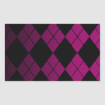 Black Argyle Stickers