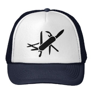 Black Army knife Hat