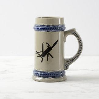 Black Army knife Coffee Mugs