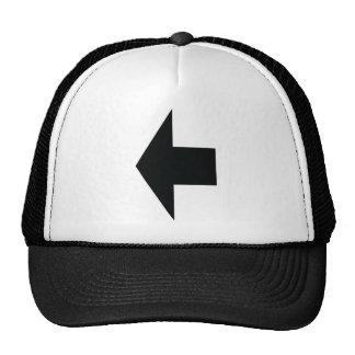 black arrow left trucker hats