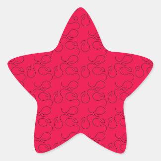 Black arrow star sticker