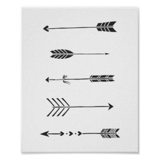 Black Arrows Minimalist Art Print