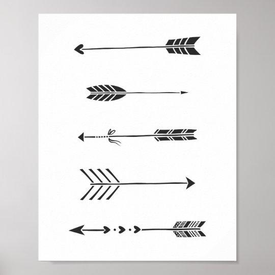 Black Arrows Minimalist Art Print