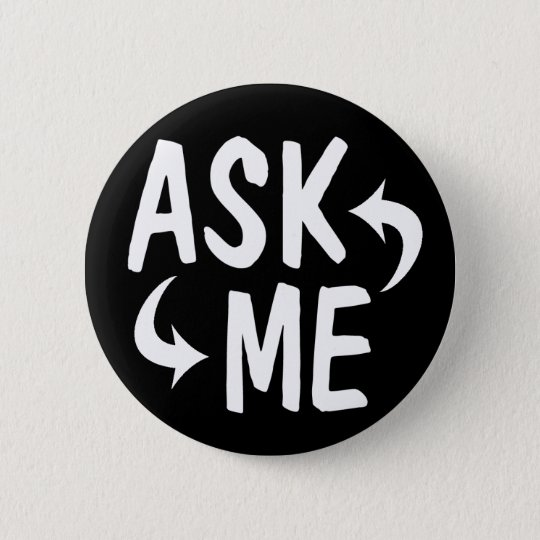 Black Ask Me Button