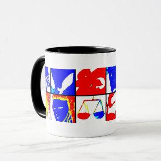Black Astrology Symbols Mug