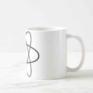 black atom nucleus mug
