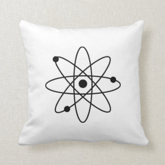 Black Atom Pillowcase Cushion